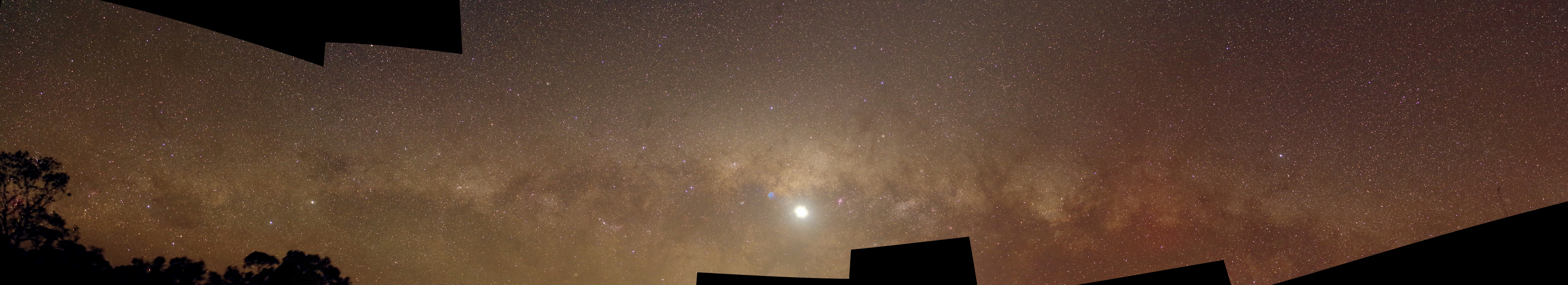venus and milky way panorama